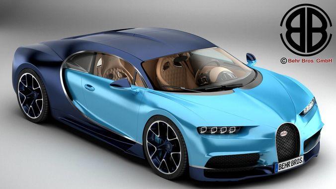 bugatti chiron 3d model max obj mtl 3ds fbx c4d lwo lw lws 1