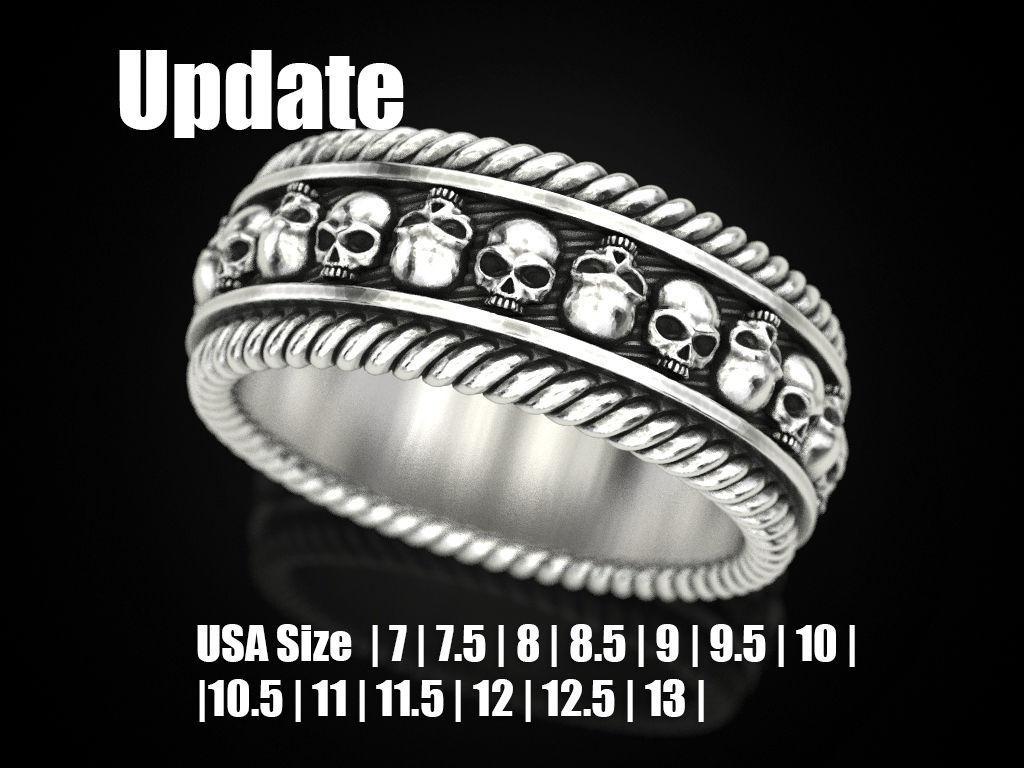 Skulls ring 2 Many sizes of the USA