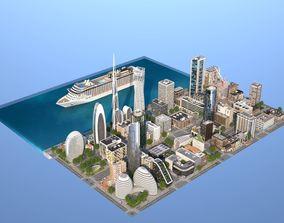 3D model Coastal City