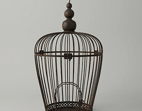 3D model Rusted Metal Bird Cage