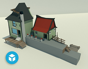 3D model Building with a dock