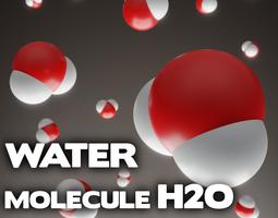 3D model realtime Water molecule - H2O