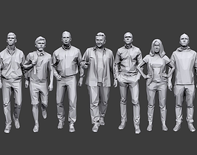 3D asset Lowpoly People Casual Pack