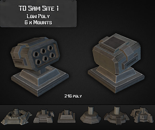 td sam site 01 3d model low-poly max obj 3ds fbx dxf dwg 1