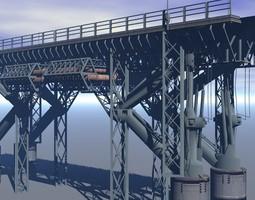 3D model Sci-fi Bridge