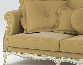 3D Light Brown Luxurious Quality Sofa
