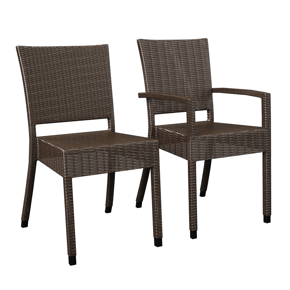 Wicker chairs wa24 and wa34 3D Model MAX OBJ FBX DWG