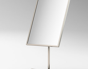 3D Silver Rectangular Mirror