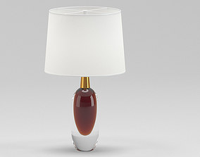 White And Brown Table Lamp 3D