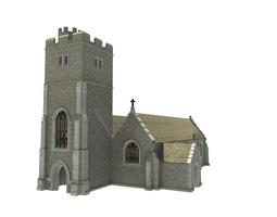 realtime 3d model old church