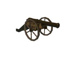 cannon 3d asset VR / AR ready