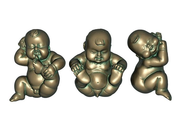 3d Print Model Three Lucky Baby Cgtrader