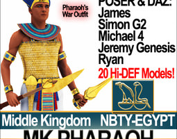 3d model ancient egypt pharaoh mk props poser daz