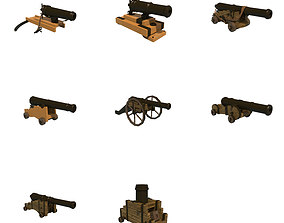 cannons 3D asset