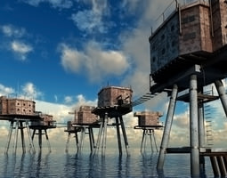 Maunsell Forts 3D Model