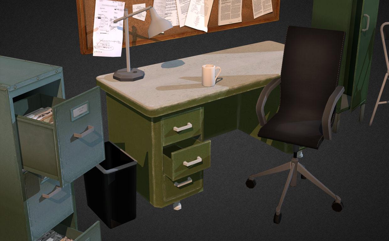 3D asset Office Interior Props | CGTrader