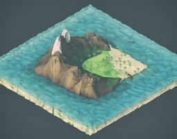 3D asset Low Poly Pirate Landscapes