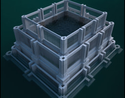 Historic Fountain 3D Model