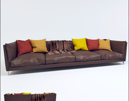 room 3D Leather sofa