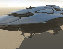 united federation colonial transport 3d model