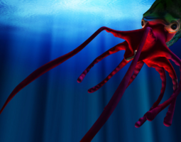 Giant Monster Squid 3D Model