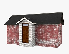 Old house brick low poly 3D asset