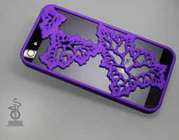 Fractal Leaves iphone 5 case 3D print model
