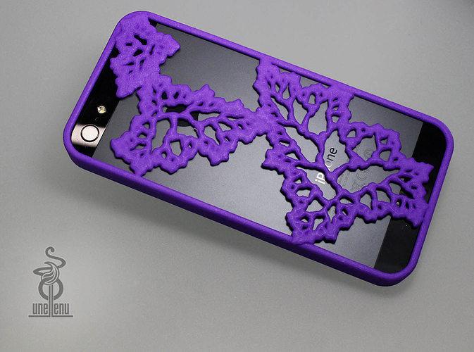 fractal leaves iphone 5 case 3d model stl 1