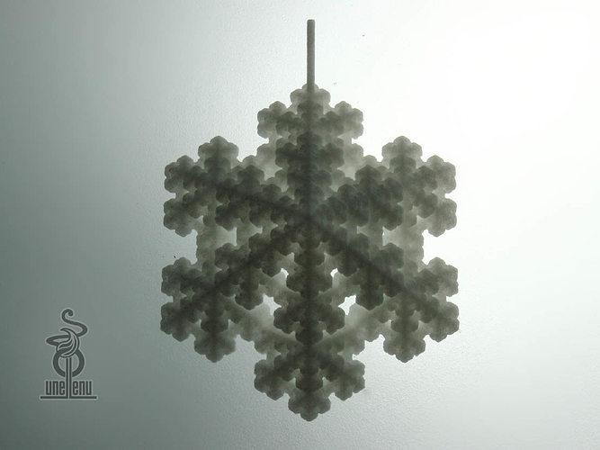 snowflake fractal pendant 3d model stl 1