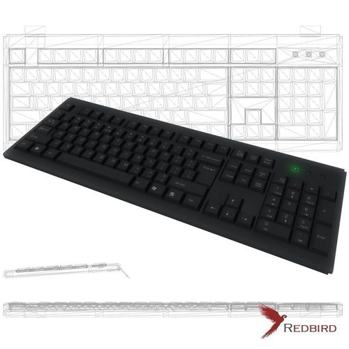 keyboard game ready low poly 3d model low-poly obj mtl 3ds fbx blend dae unitypackage prefab 1