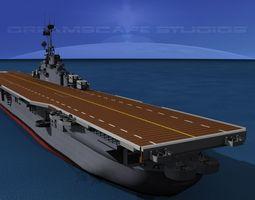 Essex Class Aircraft Carrier CV-9 USS Essex 3D Model