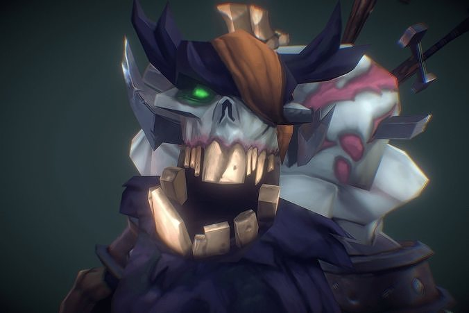 Zombie King - Low Poly Hand Painted