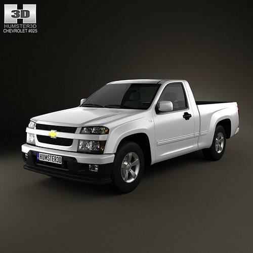 Chevrolet Colorado Regular Cab 2012 3D Model