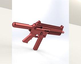 3D asset GUN 9mm Ar-15 Pistol