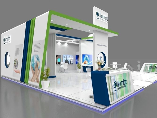 Exhibition Stall Styles : Exhibition stall d model mtr sides open pharma
