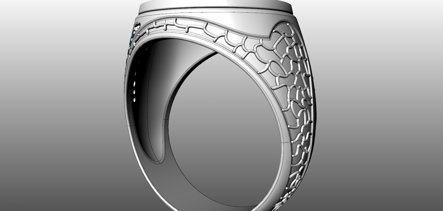 Ring Web 3d Model 3d Printable Stl