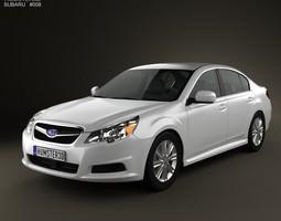 3D Subaru Legacy sedan US 2011