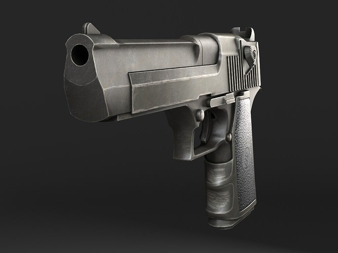 desert eagle pistol 3d model max obj mtl 3ds fbx c4d lwo lw lws 1