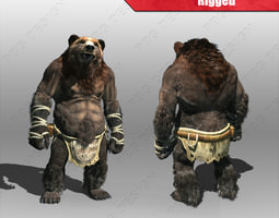 bear man 3d asset rigged