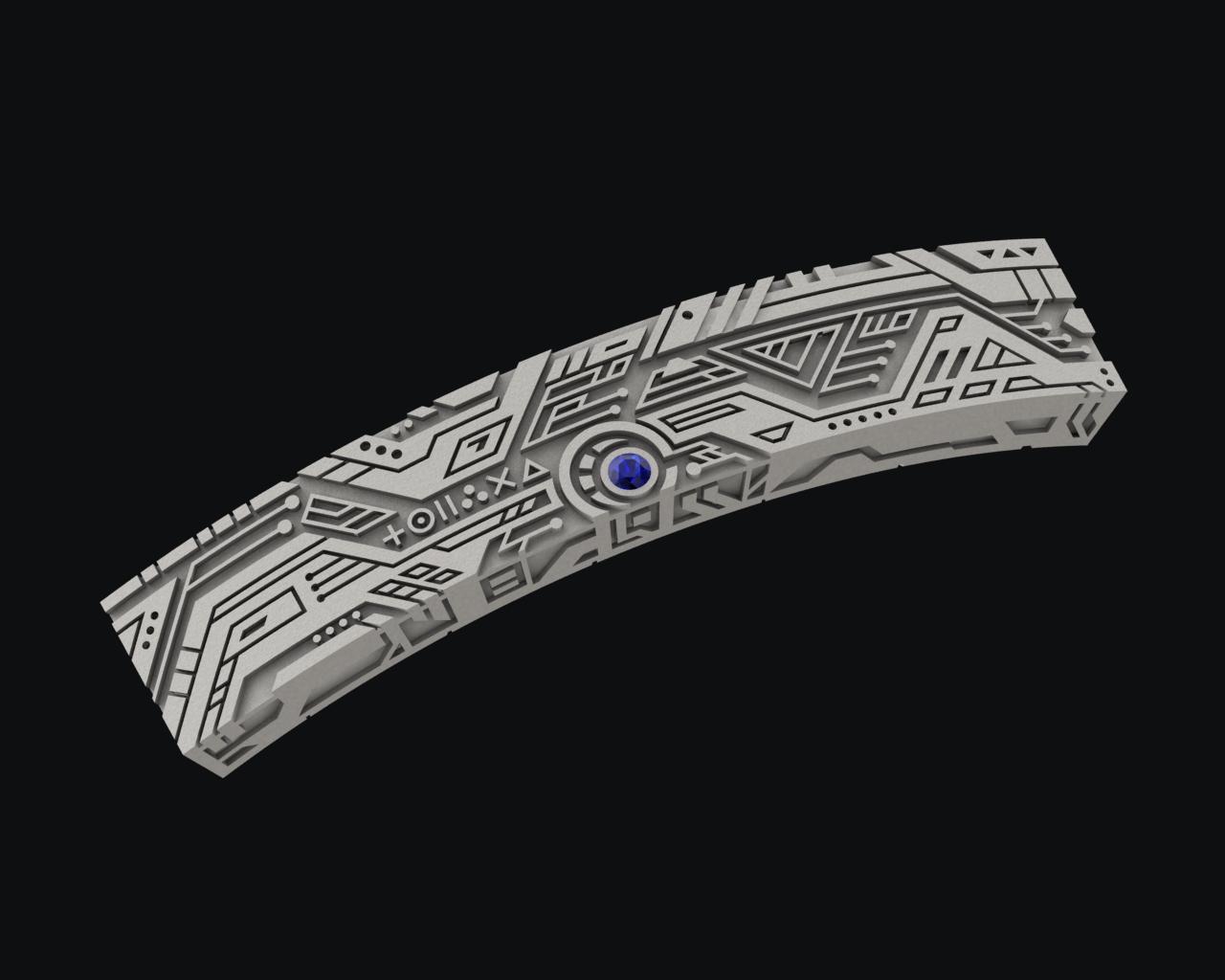 Techno Style Bracelet 3d Model 3d Printable Stl Cgtrader Com