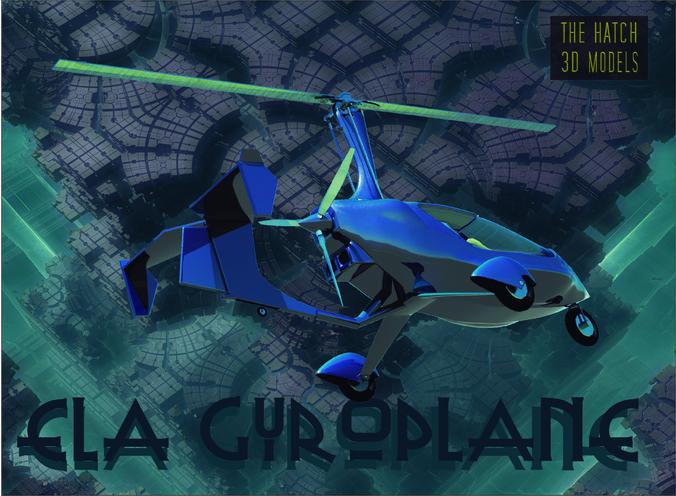 ela gyroplane  3d model obj mtl 3ds fbx dae 1