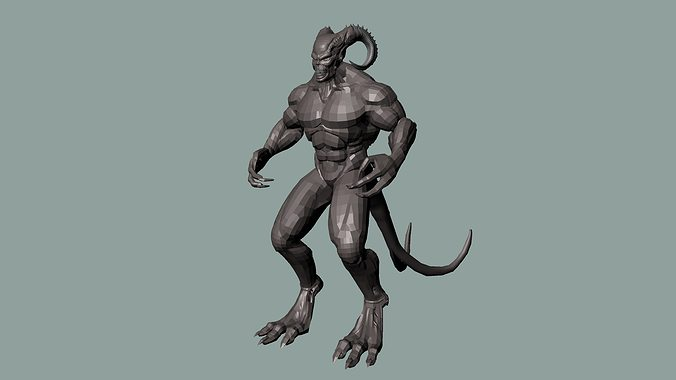 3d asset monster cgtrader for Monster 3d model
