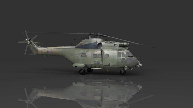 raf puma hc1 helicopter 3d model max obj mtl 3ds fbx c4d lwo lw lws 1