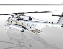 3D model Sikorsky CH-53E Super Stallion US MARINES 1