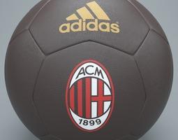 Brown ac milan football 3D