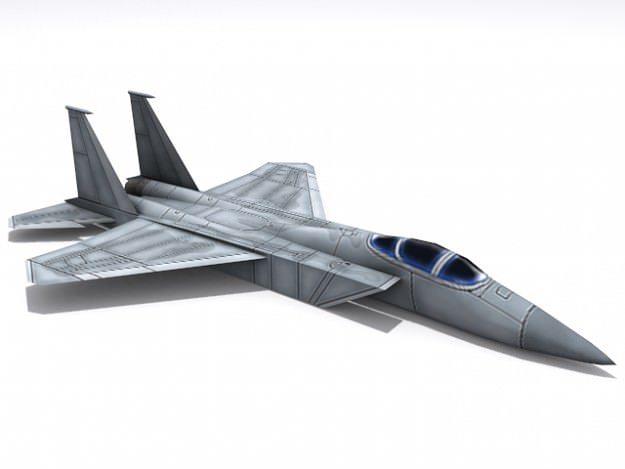 f-15 eagle 3d model low-poly max obj mtl 3ds fbx dxf 1