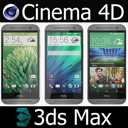 htc one m8 3d model max obj fbx c4d 1