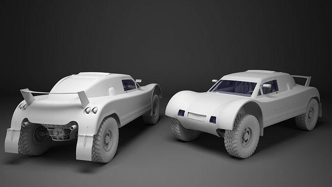 spieler buggy 3d model low-poly max obj mtl fbx 1