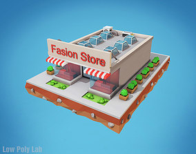 3D model Cartoon Fashion Store City Building