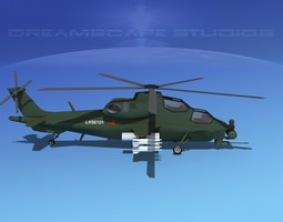 3D asset WZ-10 Attack Helicopter